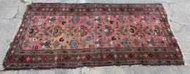 "74"" X 41"" SEMI-ANTIQUE ORIENTAL RUG"