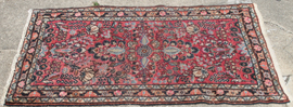 "31"" X 52"" SEMI-ANTIQUE ORIENTAL RUG"