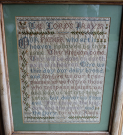 EARLY LORDS PRAYER NEEDLEWORK