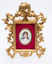 Porcelain Plaque of Young Lady