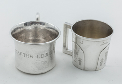 Two Child's Sterling Cups