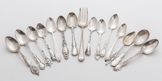 15 Pieces Sterling Flatware