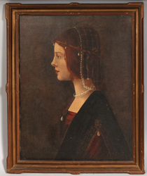 Oil Painting  of Lady with Pearls