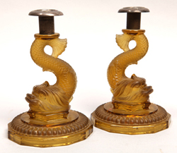 French Dolphin Candlesticks