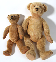 Two Early Mohair Teddy Bears