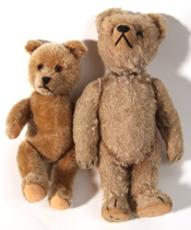 Moving Head Teddy Bear & Small Mohair Bear