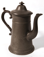 I. C. Lewis Meridian CT Pewter Coffee Pot