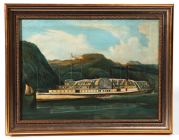 Christopher Johns 1862 Oil Painting of the Steamboat St. John