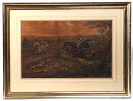 Early English Hunting Lithograph