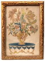 18th Century Silk Embroidered Panel