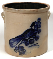 N.A. White & Sons Decorated Stoneware Jar