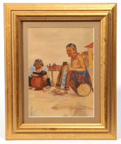Southwest Indian Watercolor Painting