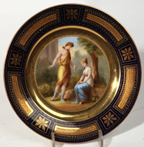 Royal Vienna Plate Signed J.R. Karls