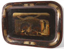 19TH CENTURY THAMES TUNNEL TOLEWARE TRAY