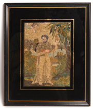 NEEDLEWORK PICTURE OF ST. FRANCIS
