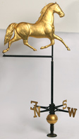 19TH CENTURY TROTTING HORSE COPPER WEATHERVANE