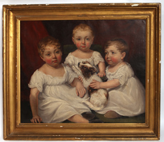 JAMES RAMSAY, 1806 OIL PAINTING OF THREE SISTER