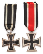 TWO GERMAN IRON CROSS MEDALS