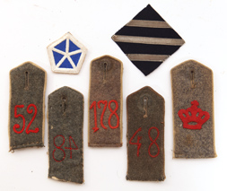 WWII GERMAN ARMY SHOULDER BOARDS PLUS