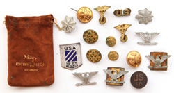 WWI COLLAR & RANK PINS, ETC.