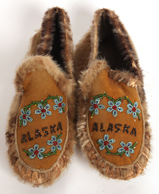 BEADED ALASKAN MOCCASIONS
