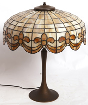 ARTS & CRAFTS LEADED GLASS LAMP