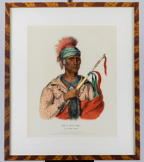 Bowen's Lithograph of A Loway Chief
