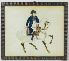 Watercolor Portrait of Mounted Napoleon