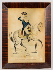 N. Currier Mounted Washington Lithograph