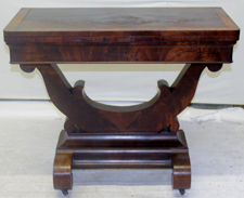 LARGE LYRE BASE CARD TABLE