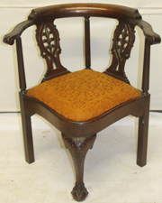 CARVED CORNER CHAIR