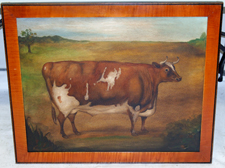 CONTEMPORARY OIL PAINTING OF BULL