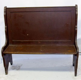 BENCH W/OLD BROWN PAINT