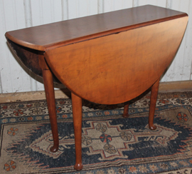 SMALL PERIOD CHERRY QUEEN ANNE TABLE