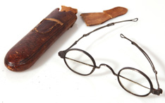 EARLY CASED SILVER BIFOCAL GLASSES