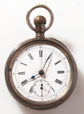 EARLY SWISS CHRONOGRAPH POCKET WATCH