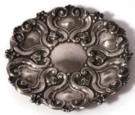 EARLY SILVER REPOUSSE FRENCH DISH