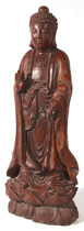 WONDERFUL CHINESE CARVED TEAK BUDDHA STATUE