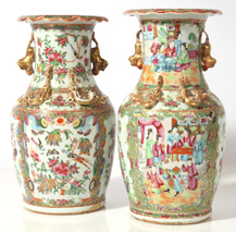 PR. EARLY CHINESE FAMILLE ROSE VASES