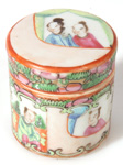 FAMILLE ROSE COSMETIC JAR