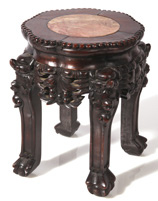 MINIATURE CHINESE MT TEAK STAND