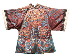 IMPERIAL CHINESE EMBROIDERED SILK ROBE