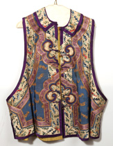 IMPERIAL CHINESE EMBROIDERED SILK VEST