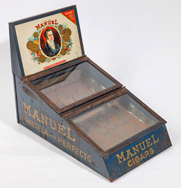 Manuel Cigar Tin Display Case