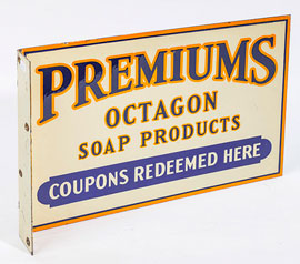 Premiums Octagon Soap Product Porcelain Bracket Sign