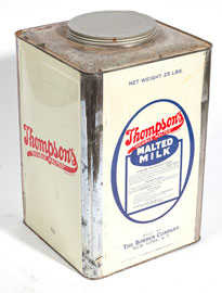 Thompson's Double Malted Malted Milk Can