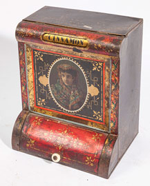 Fine Chromolithographed Tin Counter Top Spice Bin