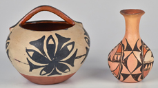 Two Native American Pueblo Pottery Pieces