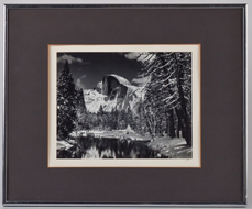 Ansel Adams Signed Photograph of Half Dome
