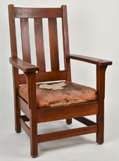 Large Stickley Brothers Arm Chair